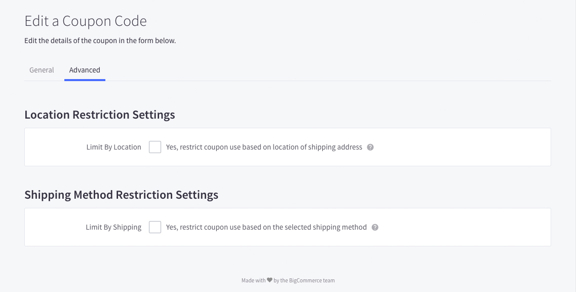 how to add a coupon on bigcommerce