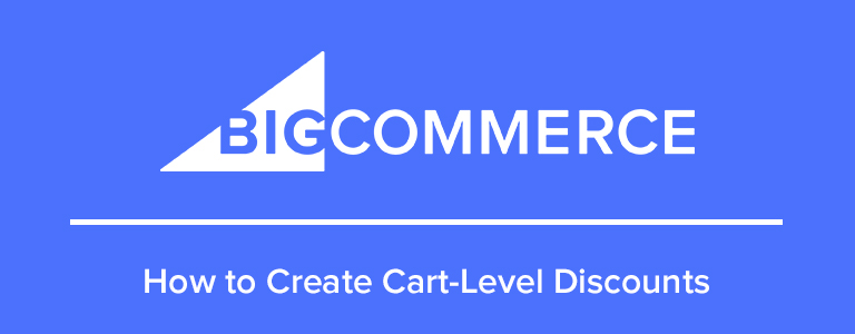 How to create cart level discounts