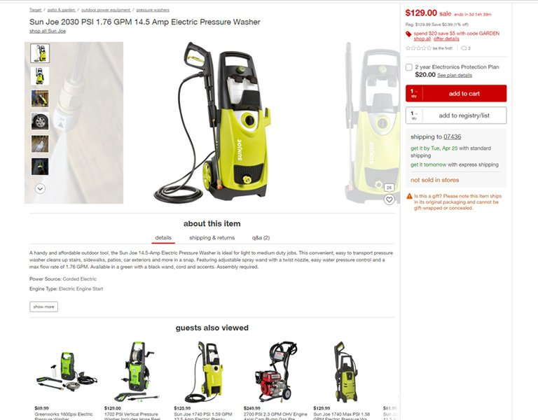 Target - Product Page Example