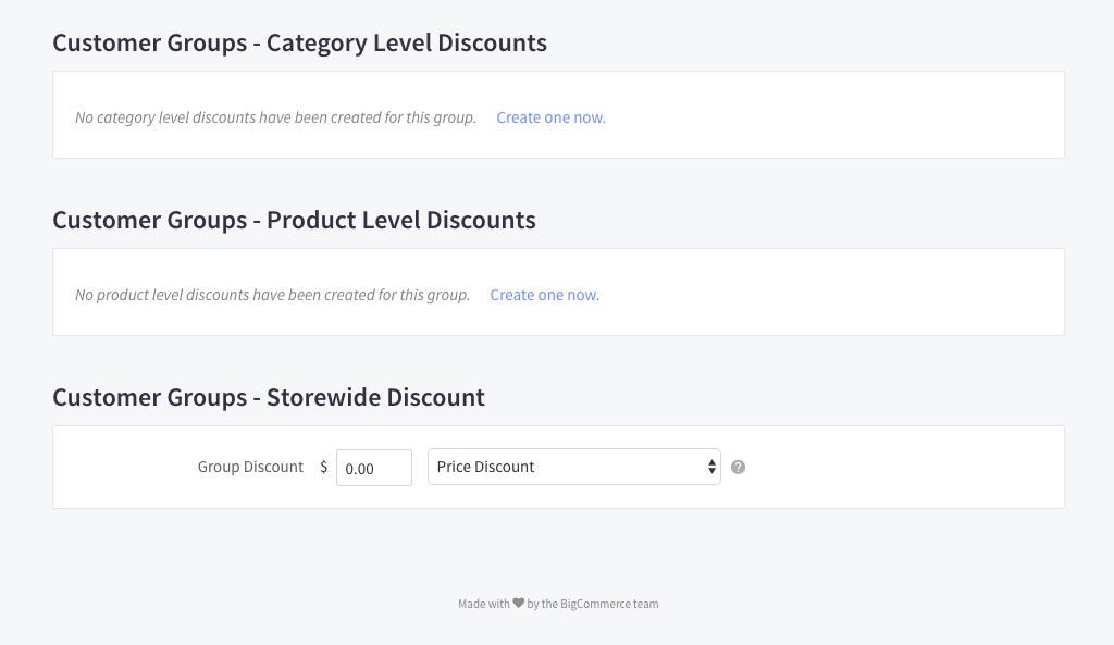 Category Level Discounts