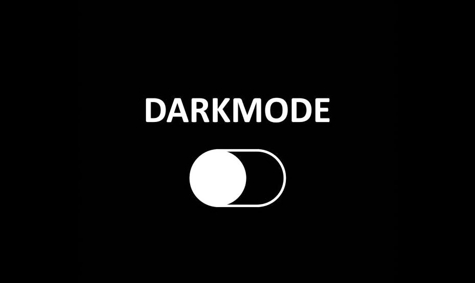 Dark mode is beginning to become more widespread as a design cue on the Internet