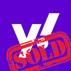 Red sold stamp over the purple Yahoo Y logo.