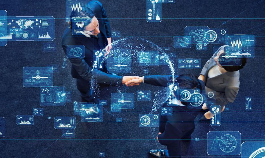 Image depicting a handshake deal, signifying the BigCommerce's purchase of Feedonomics.