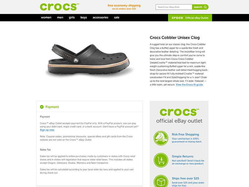 Ebay store design and listing templates custom design for ebay crocs crocs crocs crocs crocs pronofoot35fo Image collections