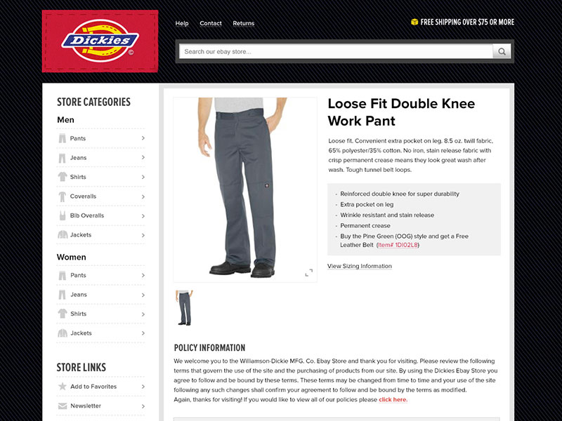 Dickies - eBay Template