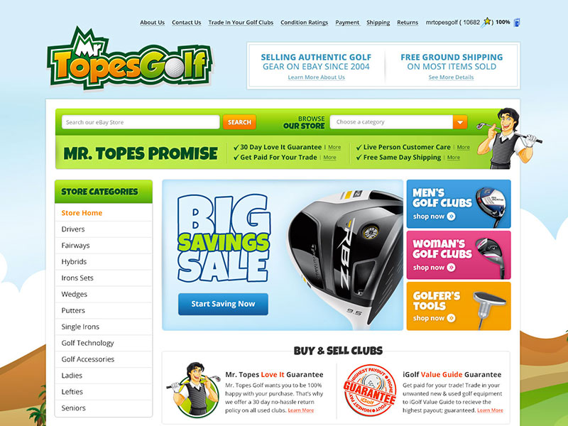 Mr. Topes Golf - eBay Store